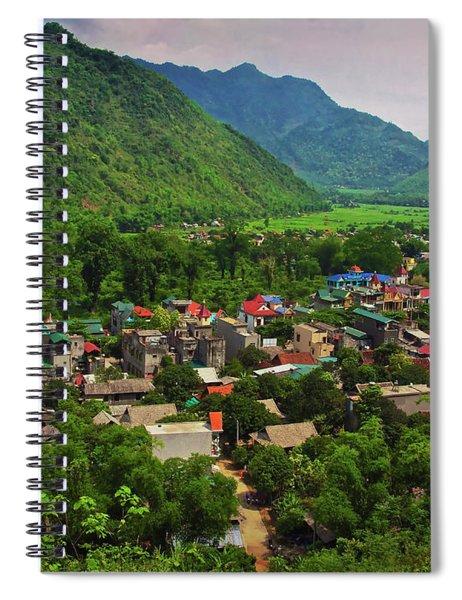 A View From Step 1,153 In Mai Chau, Vietnam, Southeast Asia Spiral Notebook