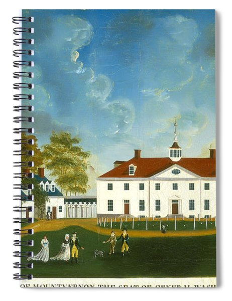 A View Of Mount Vernon Spiral Notebook