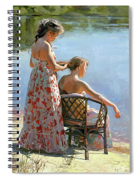 A View On The Pond Spiral Notebook