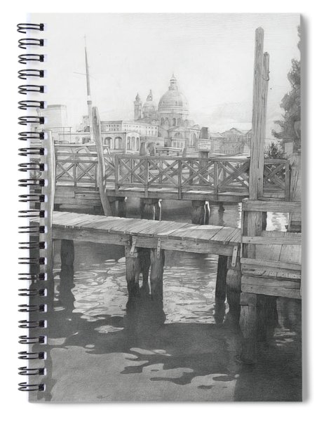 A View On The San-salute Spiral Notebook