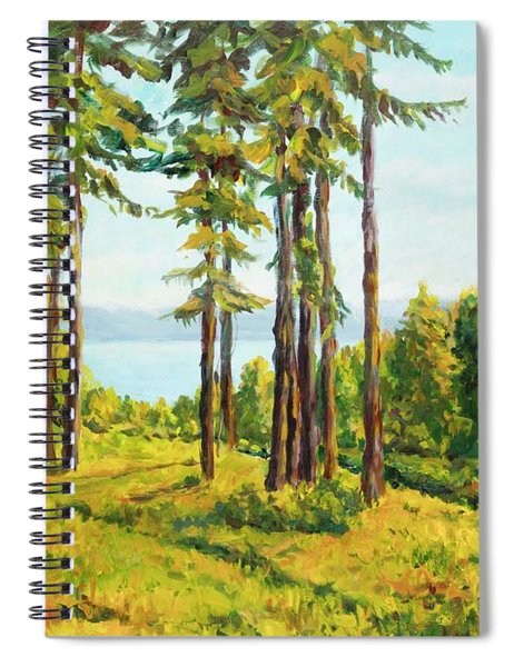 A View To The Lake Spiral Notebook