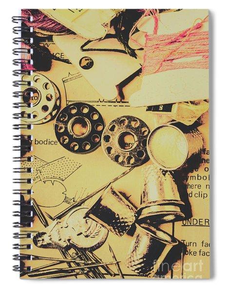 A Vintage Embellishment Spiral Notebook