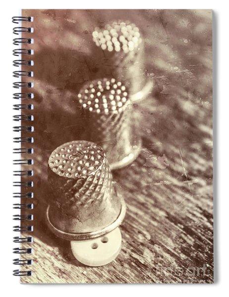A Vintage Stitch Up Spiral Notebook