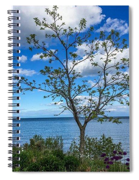 A Walk Along Lake Michigan Spiral Notebook