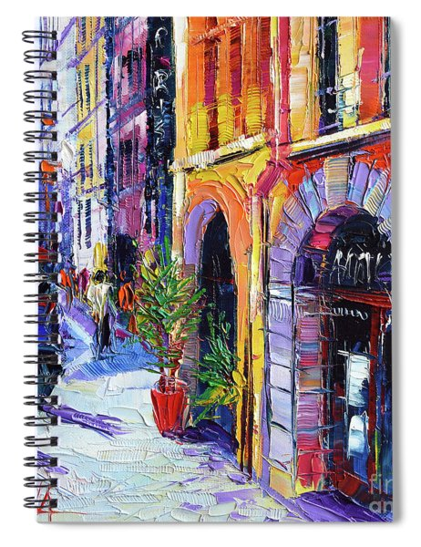 A Walk In The Lyon Old Town Spiral Notebook
