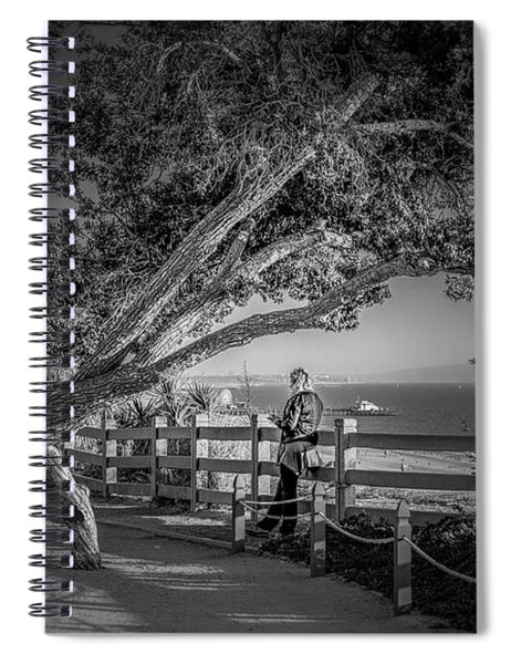 A Walk In The Park B And W Spiral Notebook