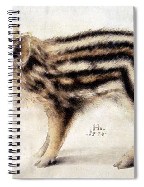 A Wild Boar Piglet Spiral Notebook