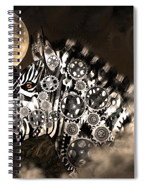 A Wild Steampunk Zebra Spiral Notebook