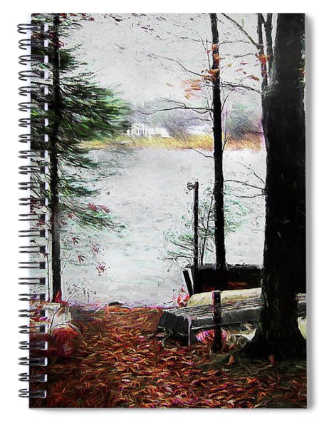 A Windy Day At The Lake Spiral Notebook
