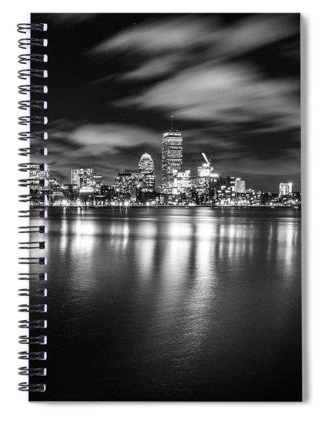 A Windy Night In Boston Spiral Notebook