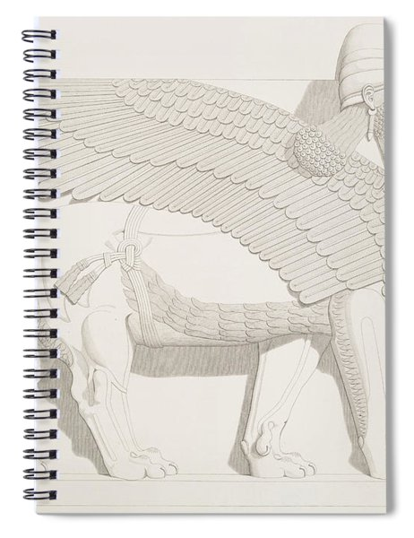 A Winged Human-headed Lion From Nimroud Spiral Notebook