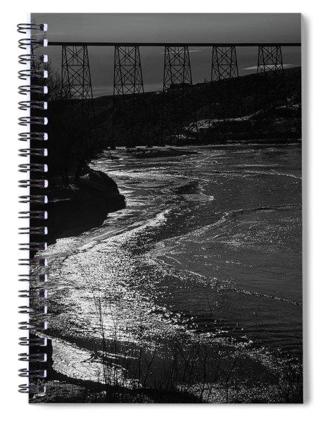 A Winter River Spiral Notebook