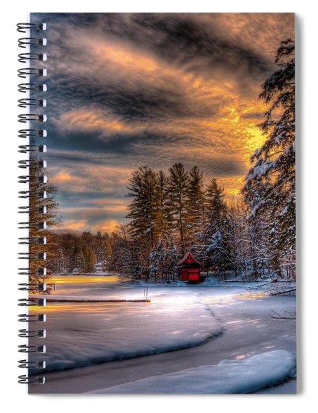 A Winter Sunset Spiral Notebook