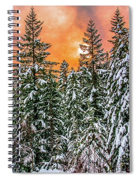 A Winters Sky Set Ablaze Spiral Notebook