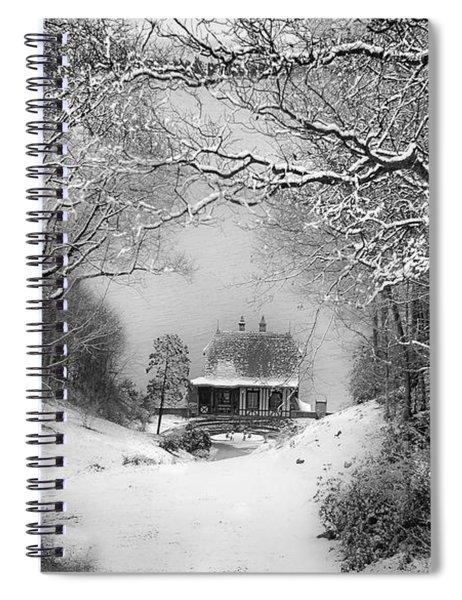 A Winter's Tale In Centerport New York Spiral Notebook