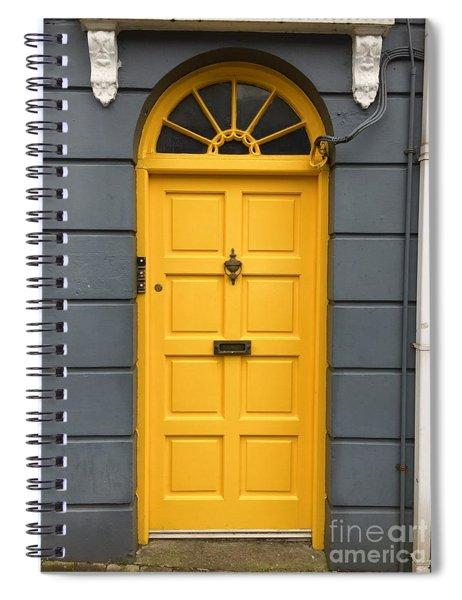 A Yellow Door In Ireland Spiral Notebook