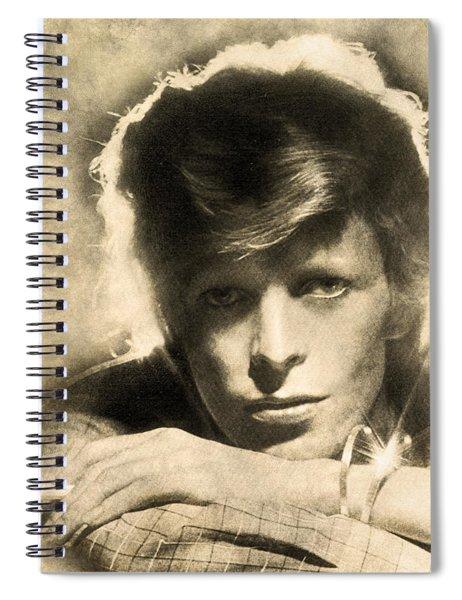 A Young David Bowie Spiral Notebook