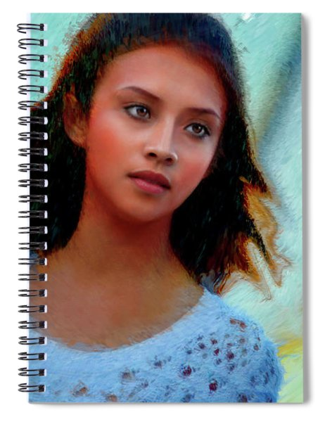 A Young Pretty Wisp Of Wind Spiral Notebook