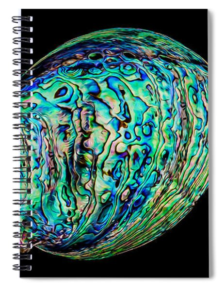 Abalone On Black Spiral Notebook