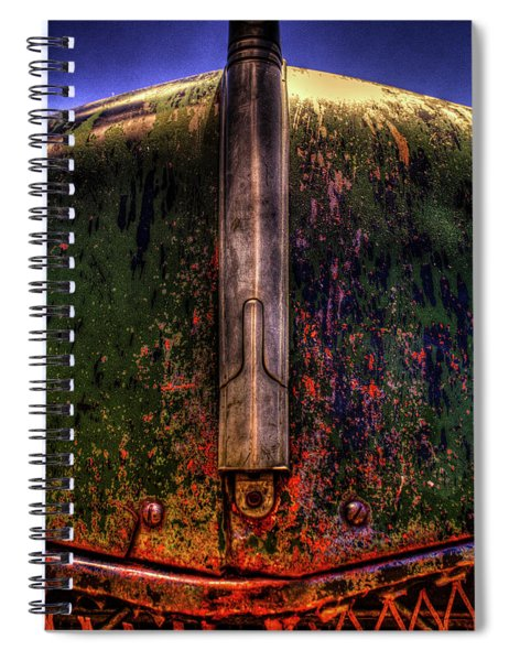 Abandoned 1937 Chevrolet Coupe Hood Detail Spiral Notebook