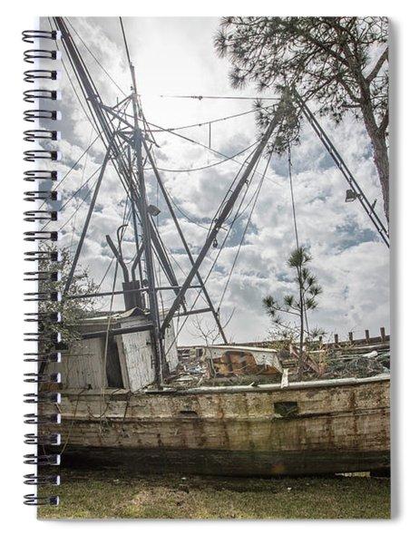 Abandoned Boat Spiral Notebook