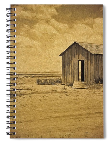 Abandoned Dust Bowl Home Spiral Notebook