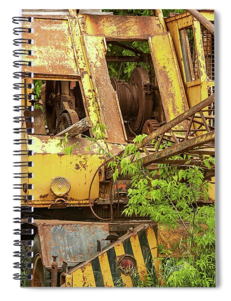 Abandoned Excavator Spiral Notebook