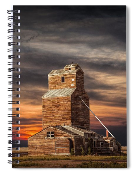 Abandoned Grain Elevator On The Prairie Spiral Notebook
