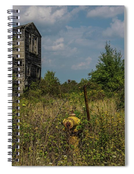 Abandoned Hydrant Spiral Notebook