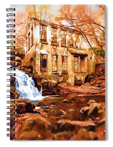 Abandoned Mill View Spiral Notebook