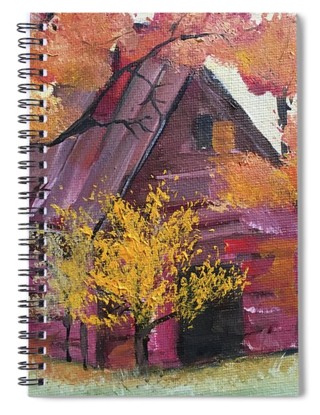 Abandoned Red Barn Spiral Notebook