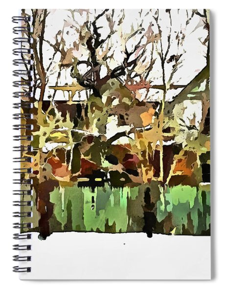 Abandoned Structure In Paint Spiral Notebook