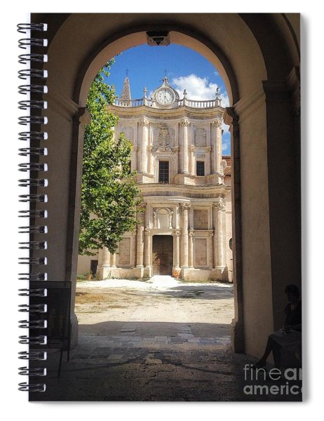 Abbey Of The Holy Spirit At Morrone In Sulmona, Italy Spiral Notebook