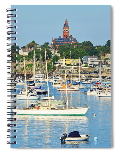 Abbot Hall Over Marblehead Harbor From Chandler Hovey Park Spiral Notebook