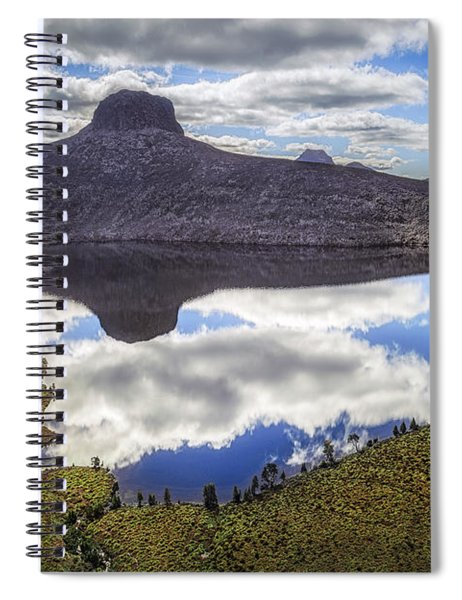 Above The Earth. Below The Sky. Spiral Notebook