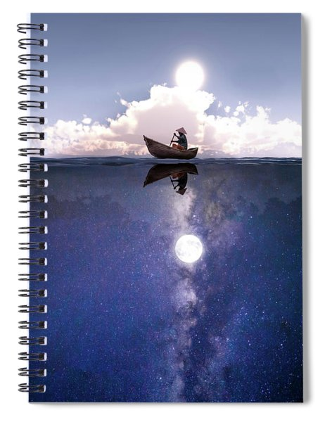 Above The Night Spiral Notebook