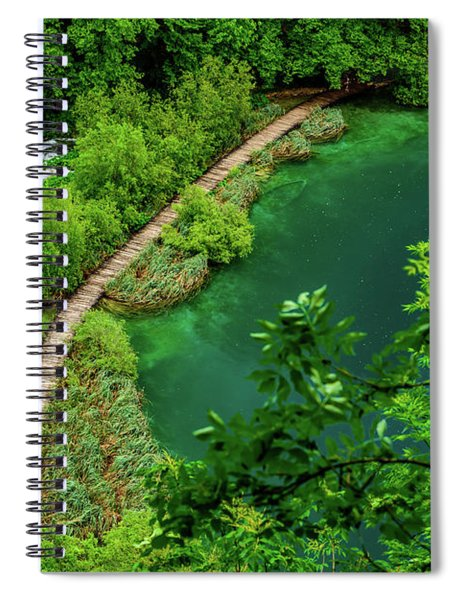 Above The Paths At Plitvice Lakes National Park, Croatia Spiral Notebook
