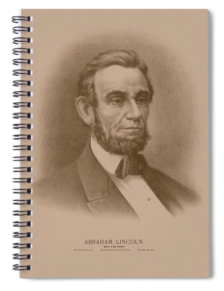 Abraham Lincoln - Savior Of His Country Spiral Notebook