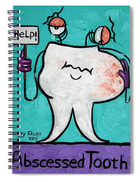 Abscessed Tooth Spiral Notebook