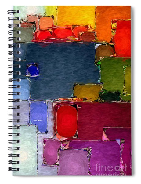 Abstract 005 Spiral Notebook