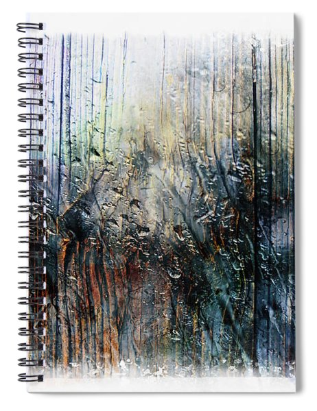 2f Abstract Expressionism Digital Painting Spiral Notebook