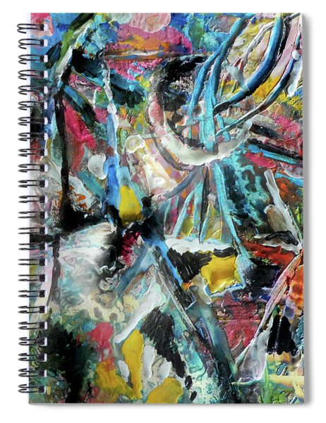 Abstract 301 - Encaustic Spiral Notebook