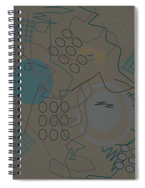 Abstract 8 Brown Spiral Notebook
