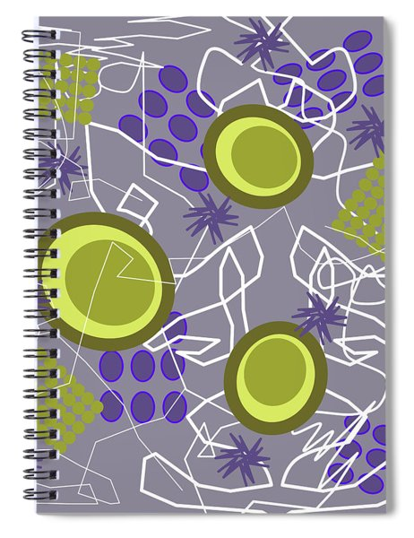 Abstract 8 Purple Spiral Notebook
