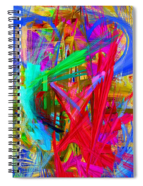 Abstract 9028 Spiral Notebook