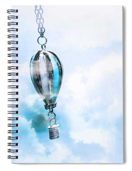 Abstract Air Baloon Hanging On Chain Spiral Notebook