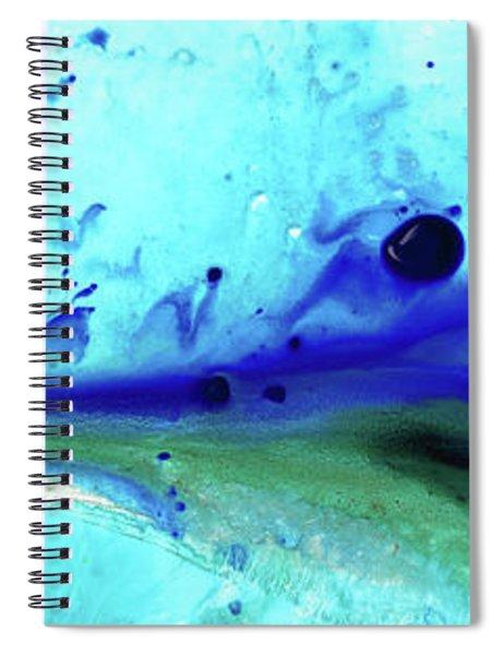 Abstract Art - Making Waves - Sharon Cummings Spiral Notebook