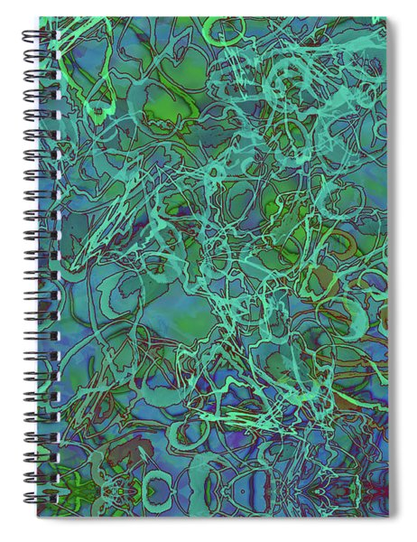 Abstract Azurite Spiral Notebook