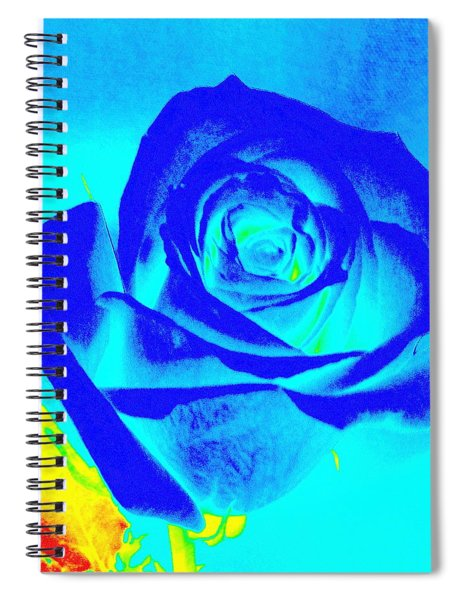 Single Blue Rose Abstract Spiral Notebook