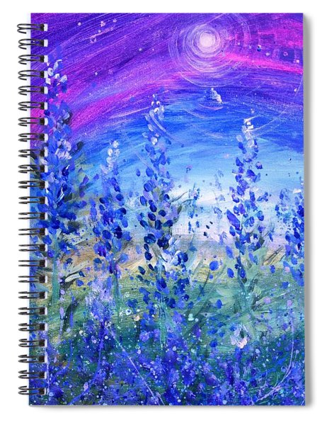 Abstract Bluebonnets Spiral Notebook